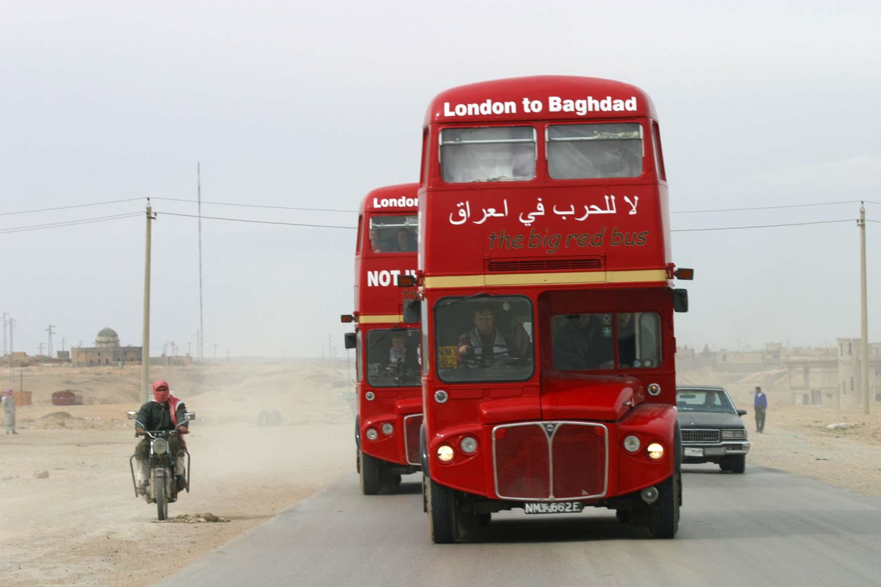 London to Baghdad Bus